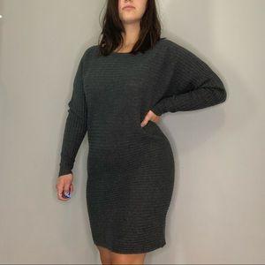 Athleta 100% merino wool ribbed sweater dress S